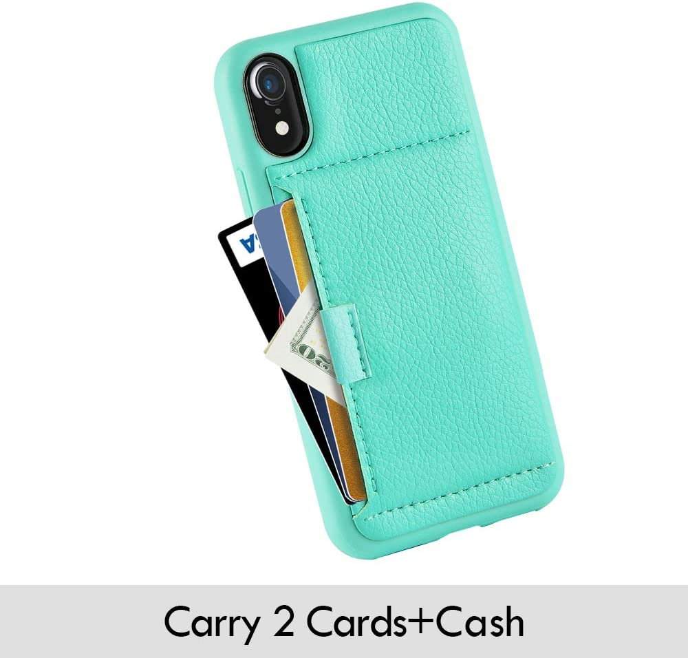 Wallet Case with Credit Card Holder Slot Slim Leather Pocket Protective Case Cover for Apple iPhone XR 6.1 inch - Pattern 3 ZVE Case for Apple iPhone XR 6.1 inch Aries Series