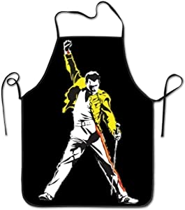TNIJWMG Unisex Kitchen Bib Freddie Mercury Funny Novelty Gift ApronFor Parties Garden Cooking Restaurant Home Chef Apron