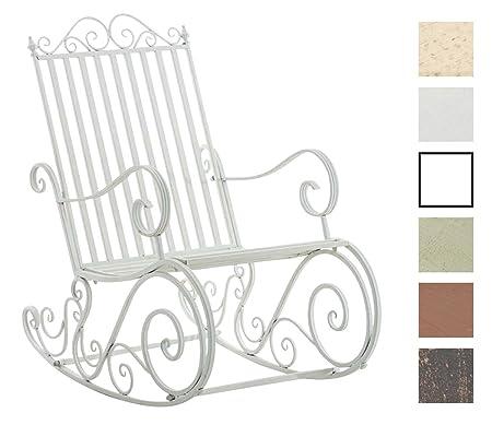 CLP Mecedora De Hierro Smilla I Mecedora Relax De Jardín I Mecedora De Exterior En Estilo Rústico I Sillón Mecedora De Balcón o Terraza I Color: ...