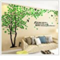 Tree Birds 3D wall Decals Acrylic DIY Wall Stickers Tattoos wall decor