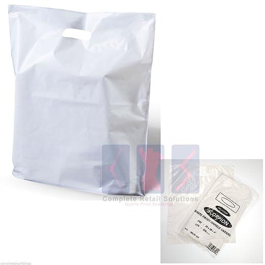 100 bolsas de plástico para la compra con asa de color ...
