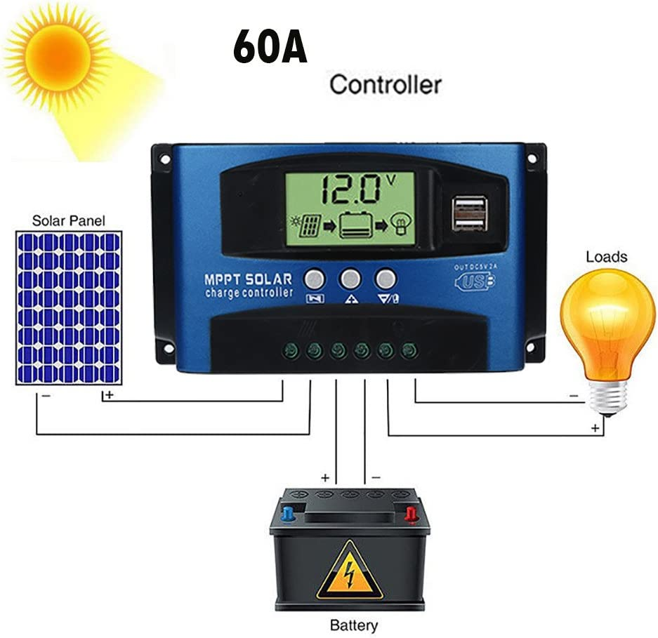 Energy Controllers Fullfun Solar Panels Battery Charge Controller ...