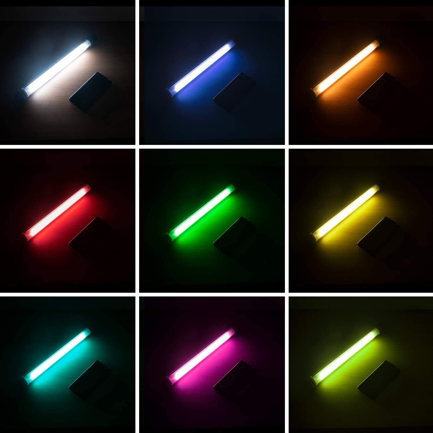 12 Lighting Mode YOUKOYI P7 RGB LED Video Light Wand Photography Portable Handheld Light 7 Colors Temperatures IP68 Waterproof Level Stepless Dimming