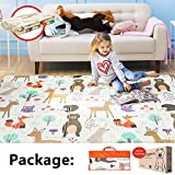 Baby Play Mat XPE Foam Floor Gym Children Mats 58x77In Baby Room Folding Mat Baby Game Blanket (Zoo)