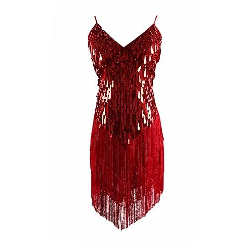 Red Fringe Dress