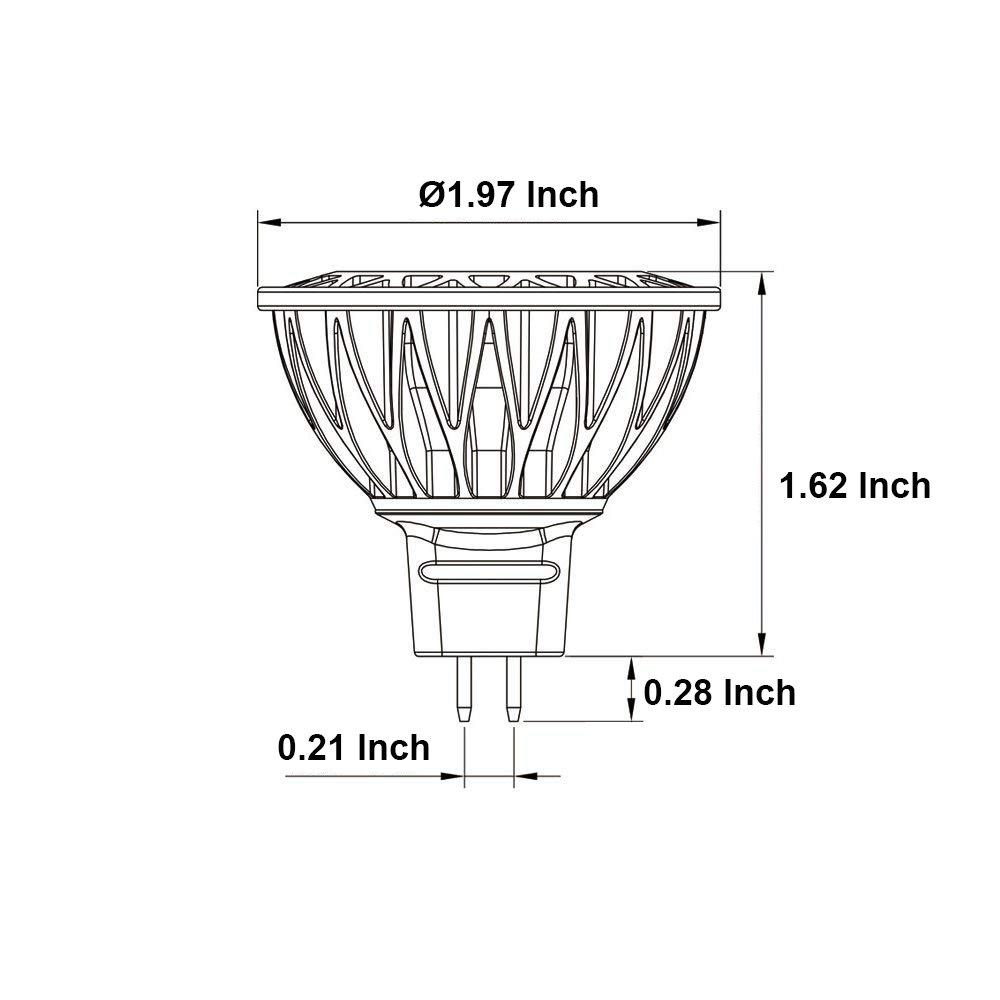 Makergroup Low Voltage Lighting 12VAC//DC MR16 Gu5.3 Bi-pin LED Bulb Lamp Spotlight 5-Watt Warm White 2700K-3000K 35-50W Halogen Replacement for Indoor and Outdoor Landscape Lighting 3-Pack