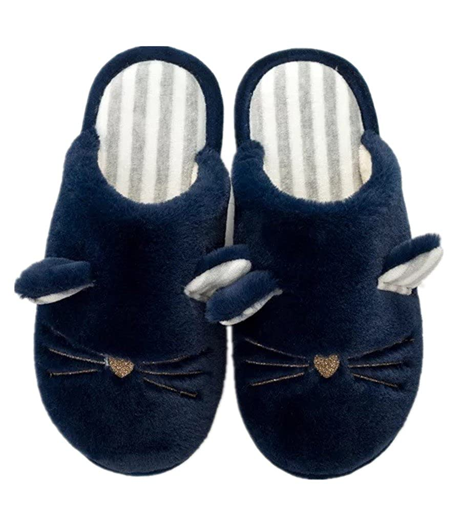 Seiyue New Winter Home Cartoon Plush Couple Thick Warm Cotton Slippers