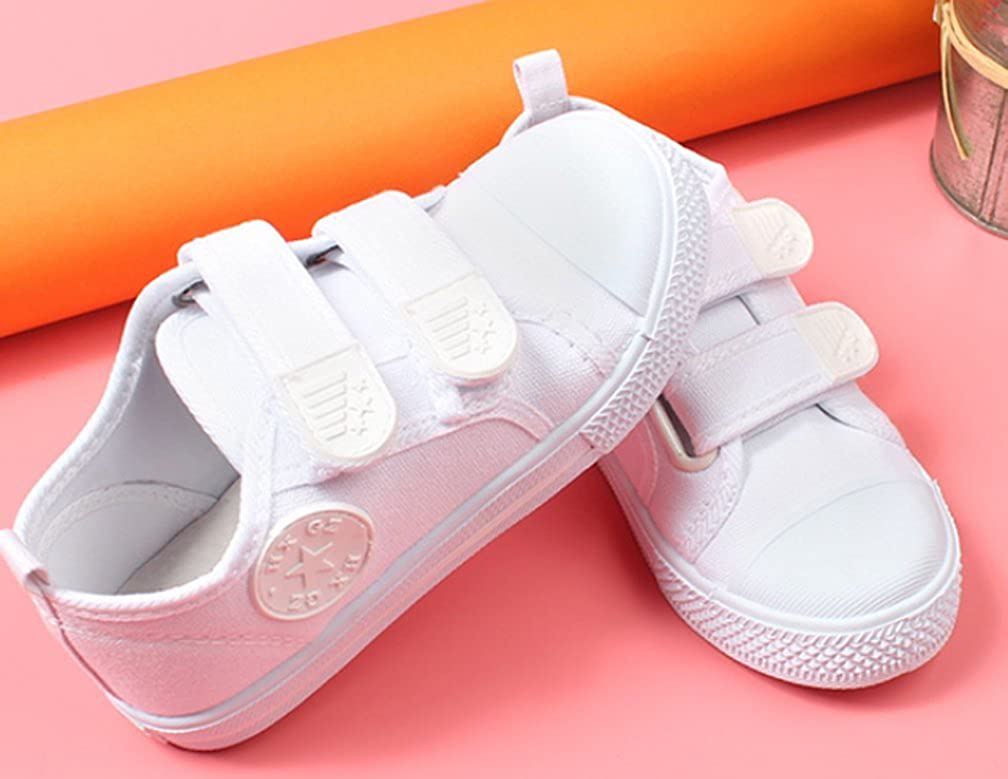 Cattior Toddler Little Kid Kids Sneakers White Canvas Shoes