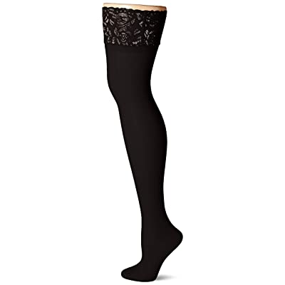 Hanes Women's Plus Size Curves Sheer Lace Thigh High at Women's Clothing store
