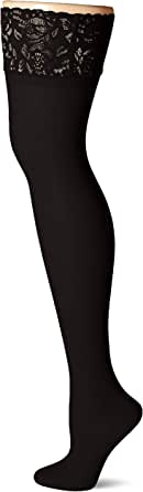 Hanes Women's Plus Size Curves Sheer Lace Thigh High