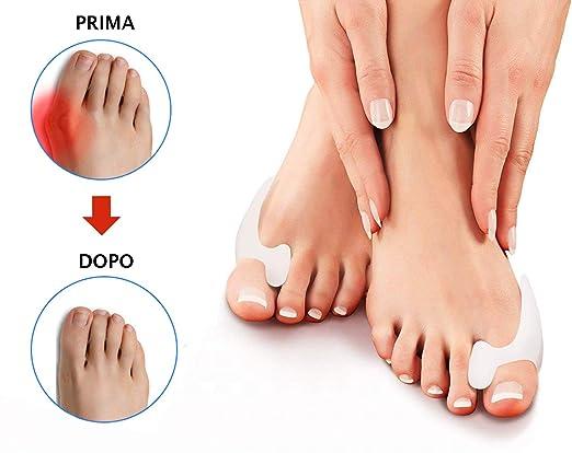 Protector para dedo del pie Valgus de 2ª generación, separador y corrector de silicona blanda, protección contra el dolor, espaciador para enderezar el dedo ...