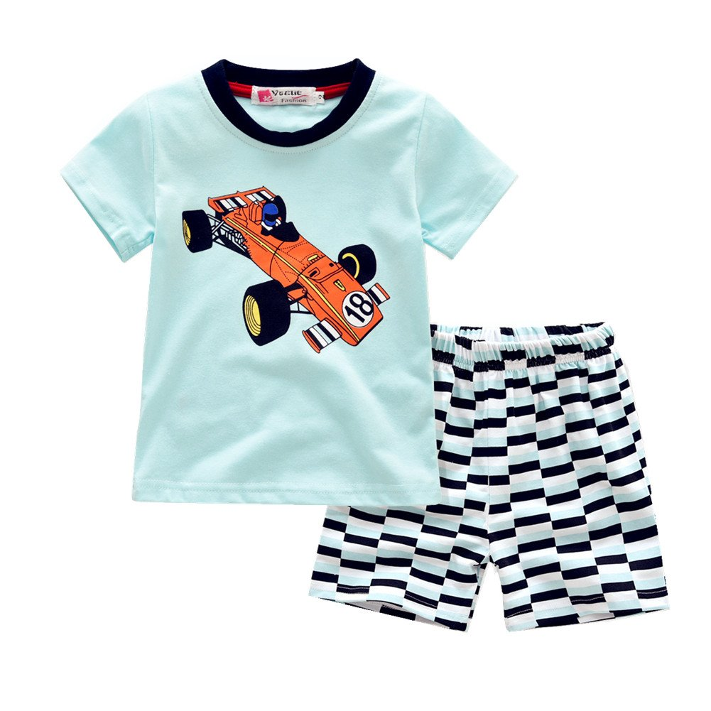 Kids Boys 2 Piece Short Sleeve Tshirt Shorts Set Outfits 1 to 5 Age Baby