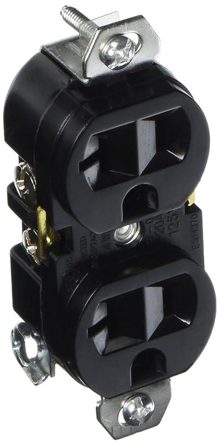 Amazon.com : Hydrofarm 20-Amp Duplex Receptacle, 120-volt ...