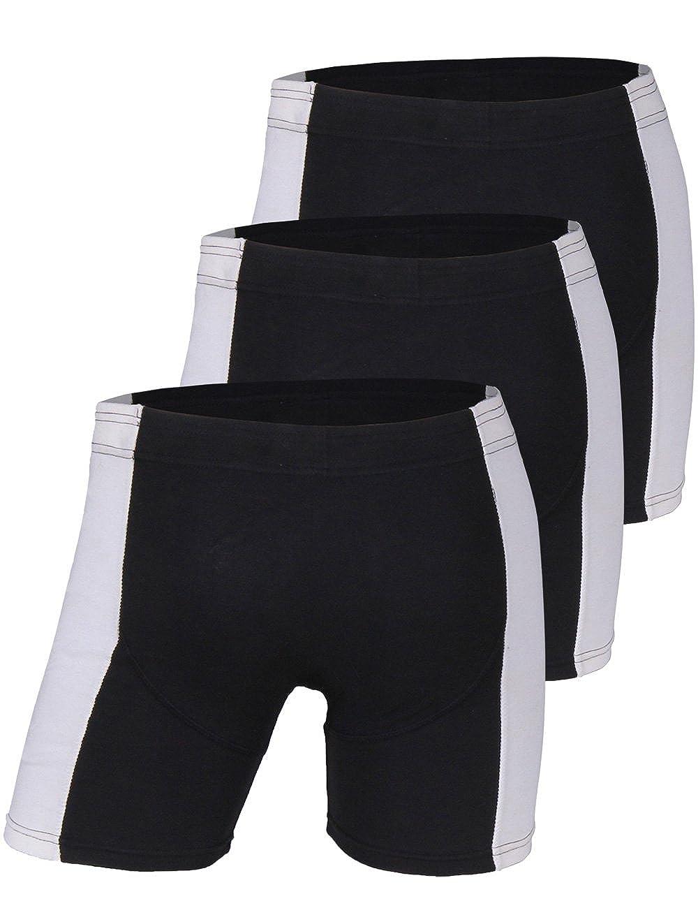 Godsen Mens 3 Pack Comfort Classic Sport Boxer Briefs