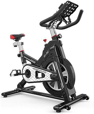 Alarmclocker8B Bicicleta de Spinning para el hogar,Mudo de Interior,Equipo Deportivo para Adelgazar,Equipo de pérdida de Peso,Volante,diseño de Seguridad Todo Incluido,Negro: Amazon.es: Hogar