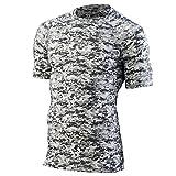 Augusta Sportswear Boys' Hyperform Compression Short Sleeve Shirt L White Digi by Augusta Sportswear