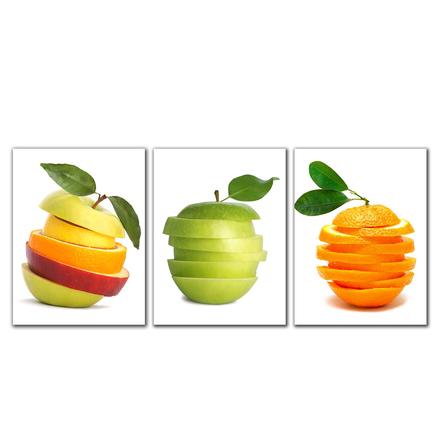 Spirit Up Art Huge Tasty Fruits Picture Painting on Canvas Print Stretched and Framed, Modern Home Decorations Wall Art set of 3 Each is 40*60cm #cy-561