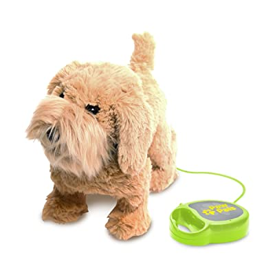 MEVA PawPals Kids Walking and Barking Puppy Dog Toy Pet with Remote Control Leash … (Brown): Toys & Games