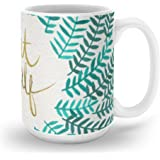 Society6 Treat Yo Self – Gold & Turquoise Mug 15 oz