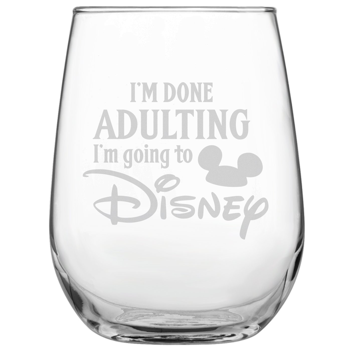 Personalised Mickey Mouse engraved glases occation,Birthday,Christmas gift#148