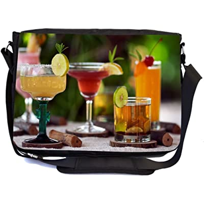 Rikki Knight Cocktails on Beach Design Premium Messenger Bag - School Bag - Laptop Bag - with padded insert for School or Work - With Matching Pencil Case