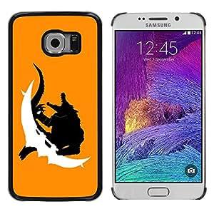 TECHCASE**Cubierta de la caja de protección la piel dura para el ** Samsung Galaxy S6 EDGE SM-G925 ** Crocodile Monster