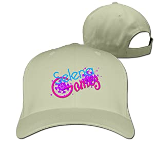 Adult Selena Gomez Logo Cotton Adjustable Peaked Baseball Cap Natural