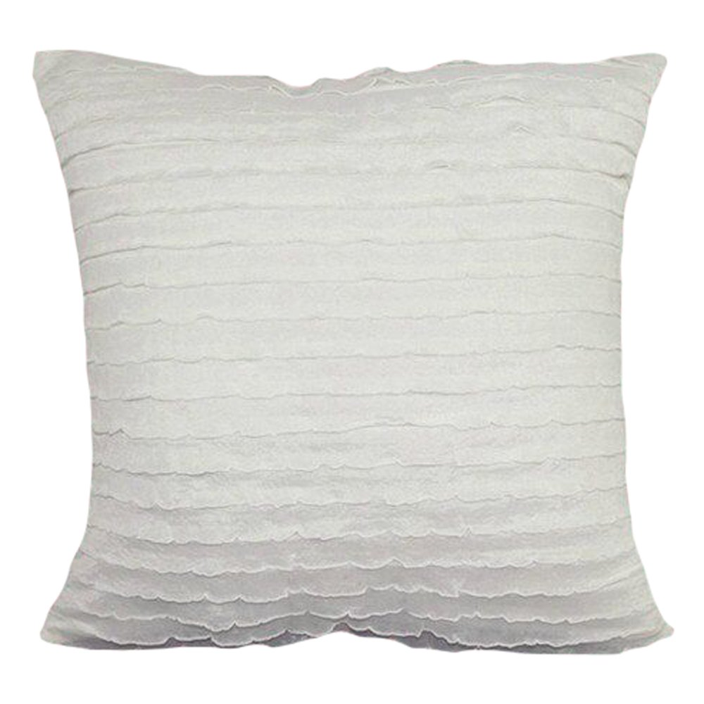 LivebyCare Lace Ruffles Dual-Layered Cushion Cover Linen Viscose Throw Pillow Case Sham Pattern Zipper Pillowslip Pillowcase for Decor Decorative Drawing Living Room LC/_HT/_HT-PLLRC-01-huise-4040