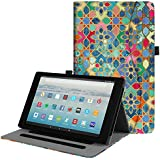 Fintie Case for All-New Amazon Fire HD 10 Tablet (7th Generation, 2017 Release) - [Multi-Angle Viewing] Folio Stand Cover with Pocket Auto Wake/Sleep for Fire HD 10.1 Inch Tablet, Bohemian Ledge