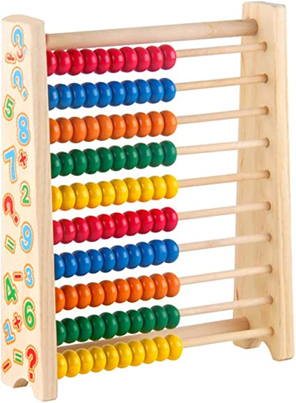 TRADITIONAL COLOURFUL CHILDRENS TOY CLASSIC LEARNING COUNTING ED WOODEN ABACUS