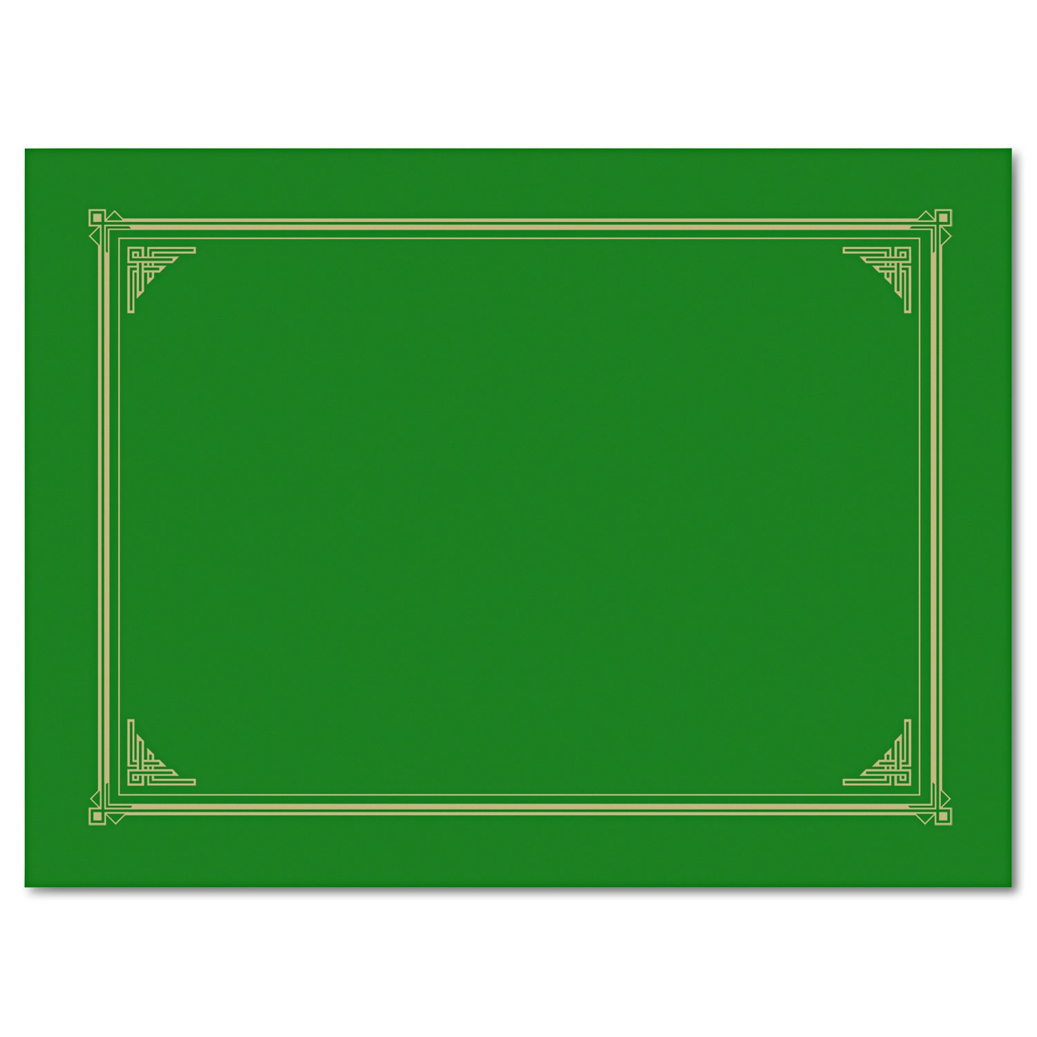 Geographics Linen Stock Document Cover, 9.75 x 12.5 Inches, Green (47399)