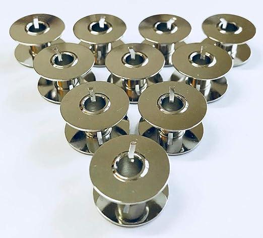 Nähmaschinenzubehör24 10 bobinas de Metal CB para máquinas de ...