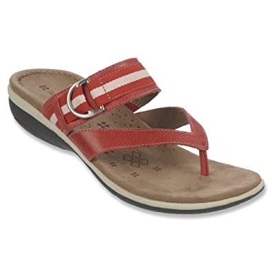 Womens Sandals Naturalizer Vail Red Pepper Leather