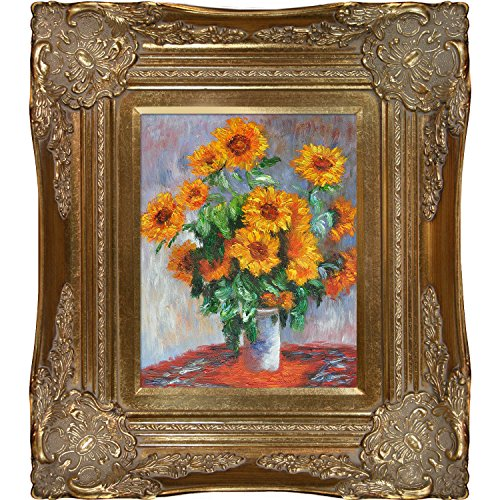 overstockArt Monet Sunflowers Paintings with Victorian Gold Finish Frame