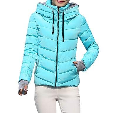 Kanpola Damen Winterjacke Winter Elegant Jacke mit Kapuze ...