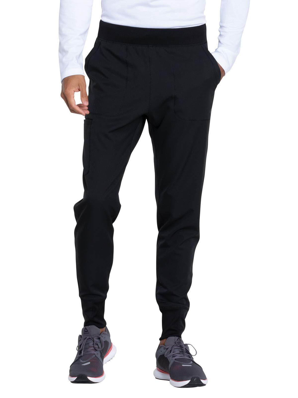 Dickies Dynamix Men's DK040 Men's Natural Rise Jogger Pant (Black, Large Short) by Dickies