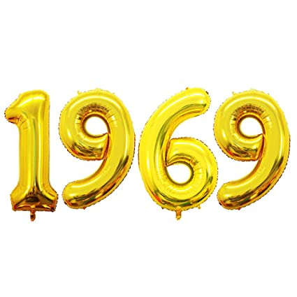 Amazon GOER 42 Inch Gold Number Balloons 1969Helium