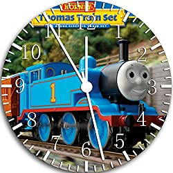 Borderless Thomas Train Frameless Wall Clock W68 Nice for Decor Or Gifts