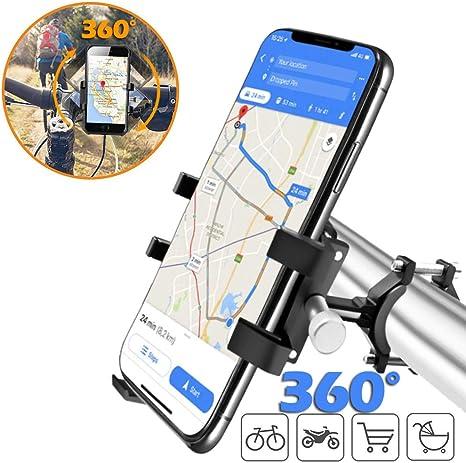 Soporte de teléfono para bicicleta, soporte de metal para teléfono ...