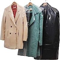 20 plastique transparent Vêtements couvercle anti-poussière suspendu sac de rangement de vêtements de poche