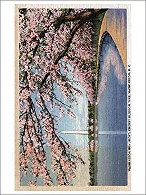Washington DC - Washington Monument View through Cherry Blossoms (Playing Card Deck - 52 Card Poker Size with Jokers)