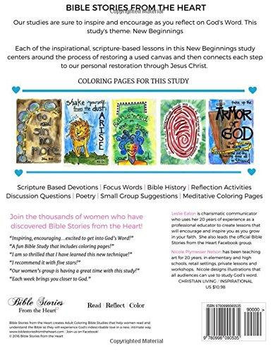 Adult Coloring Bible Study: New Beginnings: Leslie Eaton, Nicole ...