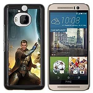KLONGSHOP // Cubierta de piel con cierre a presión Shell trasero duro de goma Protección Caso - Estrella Jedi - HTC One M9Plus M9+ M9 Plus //