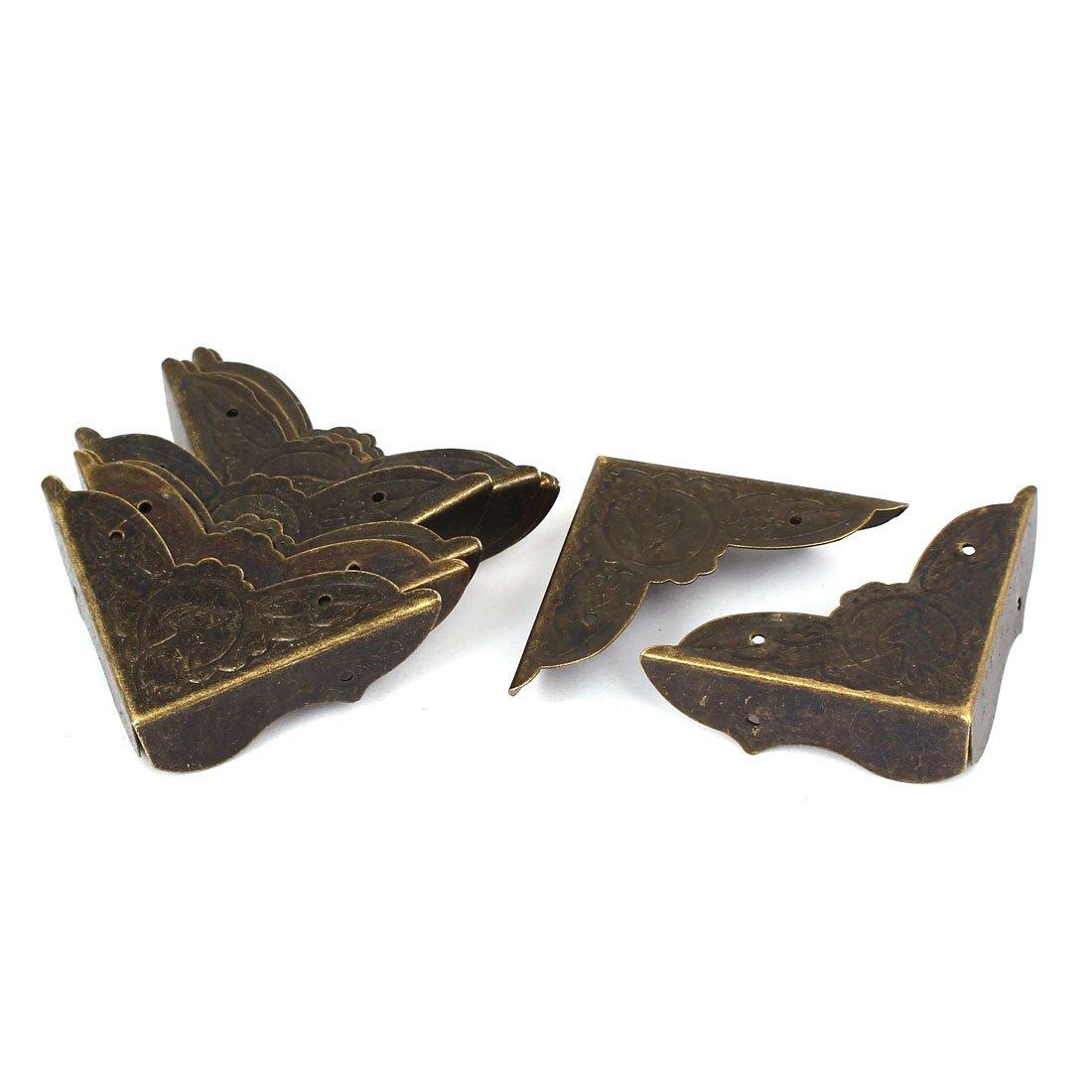 sourcingmap Joyerí a de la caja de regalo cubierta de la esquina del protector de tono de bronce 10pcs 45mmx45mmx13mm a16031400ux0796