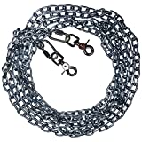 Beast-Master Straight Link Tie-Out Chain with Trigger Snaps Medium Dogs (40 FT)