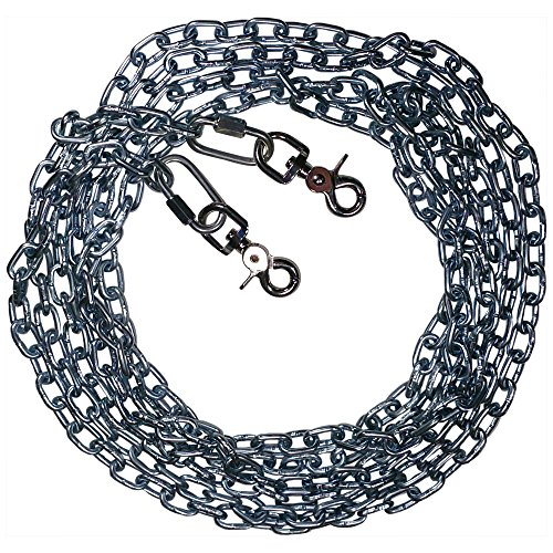 Beast-Master Straight Link Tie-Out Chain with Trigger Snaps Medium Dogs (100 FT) by Beast-Master