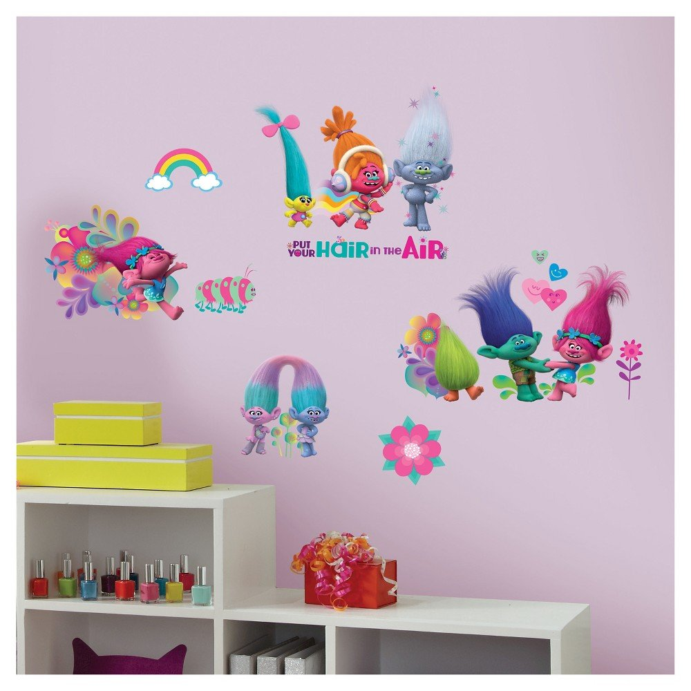RoomMates Trolls Movie Peel and Stick Wall Decals