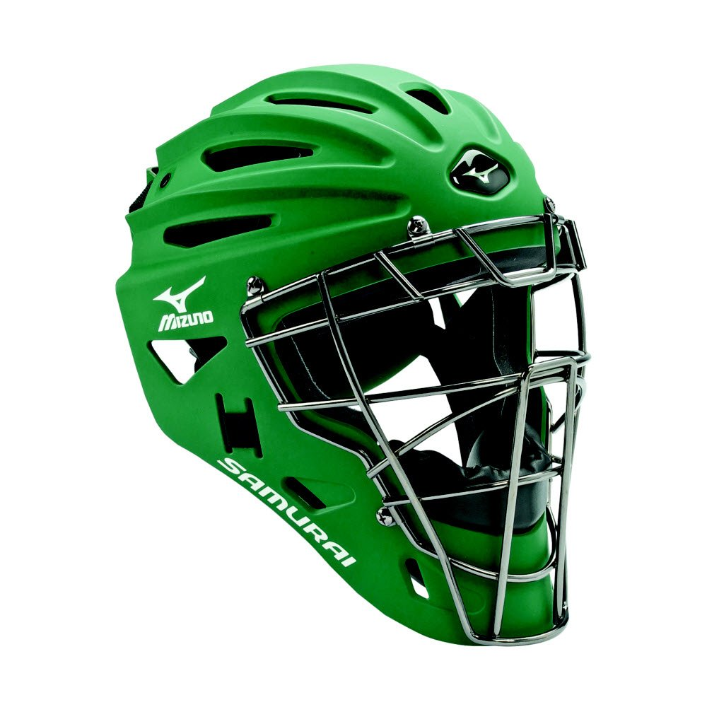 Mizuno Youth G4 Samurai Catcher's Helmet, Forest by Mizuno