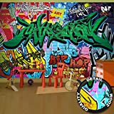 Graffiti photo wallpaper street art graffiti wallpaper street style mural Great Art 132.3 Inch x 93.7 Inch