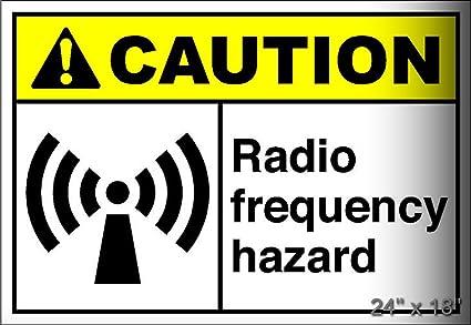 "7/"" X 7/"" RADIO FREQUENCY HAZARD WARNING SIGN ALUMINUM"